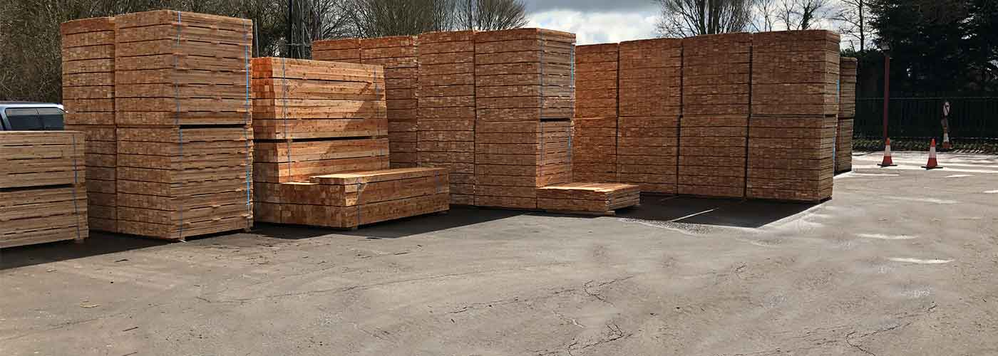 Sawn timber stacks